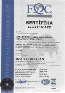 infra enerji iso-belge-14001