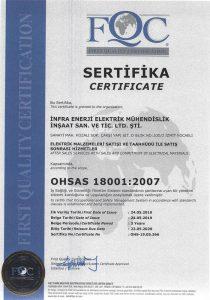infra enerji iso-belge-ohsas-18001